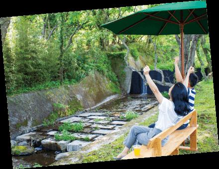 森藩別邸川辺の風景